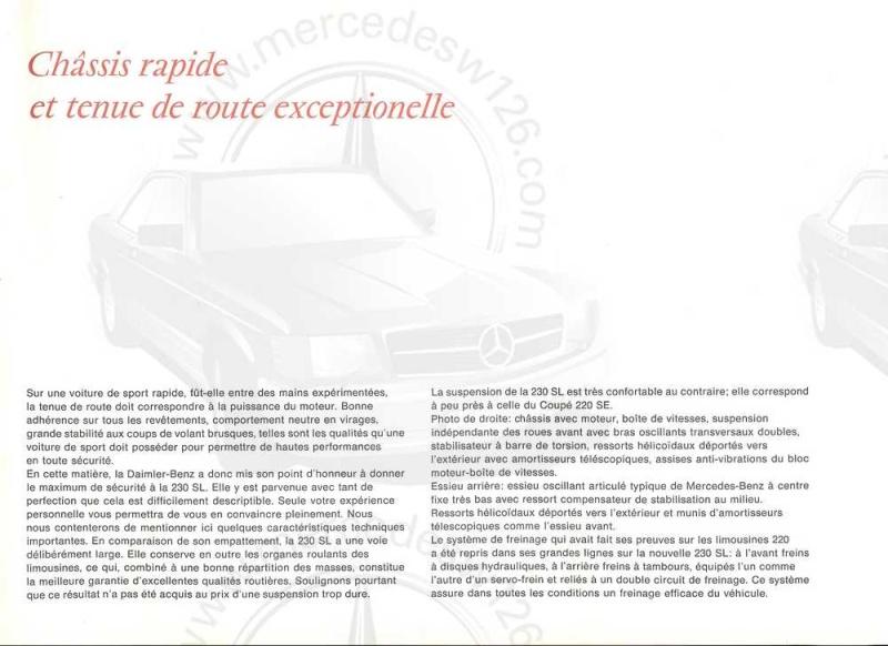 "Catalogue de 1965 sur la Mercedes W113 230 SL ""pagode"" W113_222"