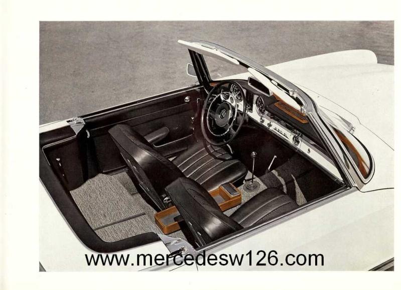 "Catalogue de 1965 sur la Mercedes W113 230 SL ""pagode"" W113_223"