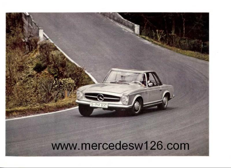 "Catalogue de 1965 sur la Mercedes W113 230 SL ""pagode"" W113_224"