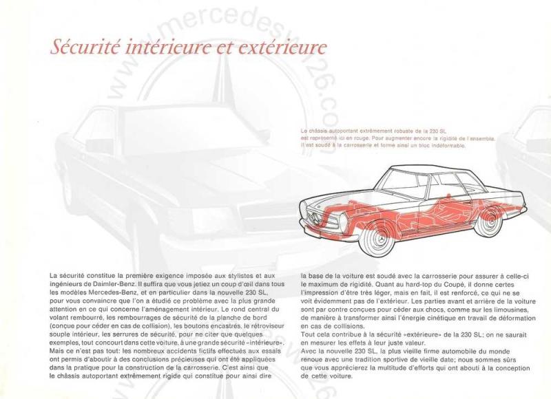"Catalogue de 1965 sur la Mercedes W113 230 SL ""pagode"" W113_226"
