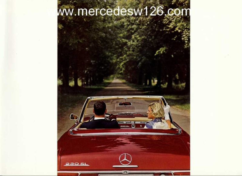 "Catalogue de 1965 sur la Mercedes W113 230 SL ""pagode"" W113_227"