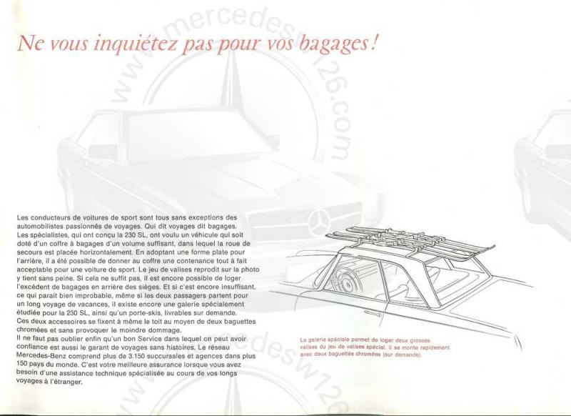 "Catalogue de 1965 sur la Mercedes W113 230 SL ""pagode"" W113_228"
