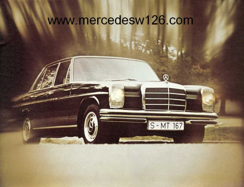 Catalogue de 1972 sur les Mercedes W114 250, 280 & 280 E W114_111