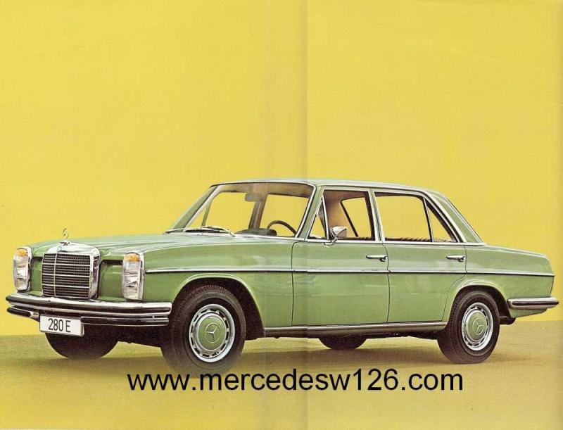 Catalogue de 1972 sur les Mercedes W114 250, 280 & 280 E W114_112