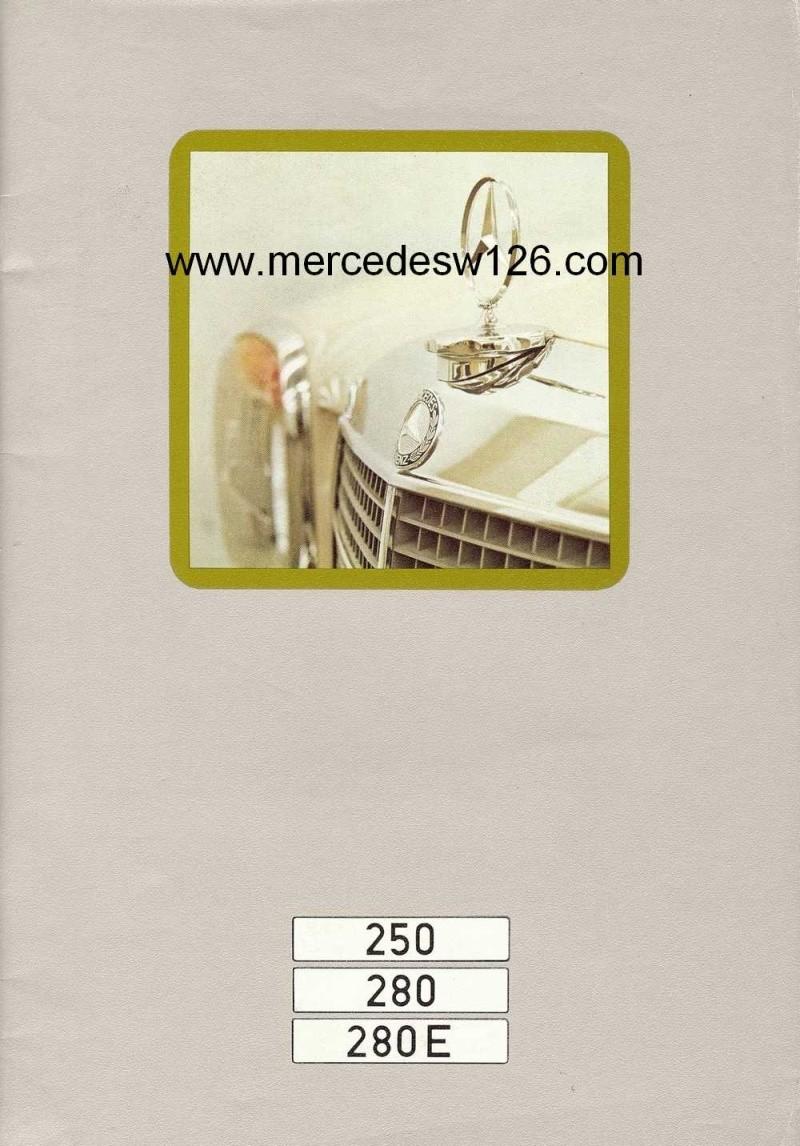 Catalogue de 1972 sur les Mercedes W114 250, 280 & 280 E W114_113