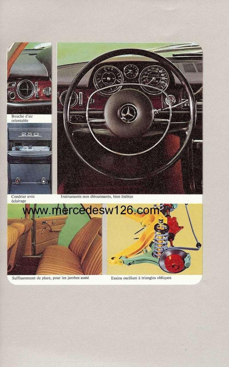 Catalogue de 1972 sur les Mercedes W114 250, 280 & 280 E W114_118