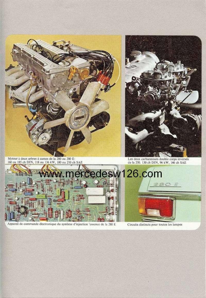 Catalogue de 1972 sur les Mercedes W114 250, 280 & 280 E W114_127