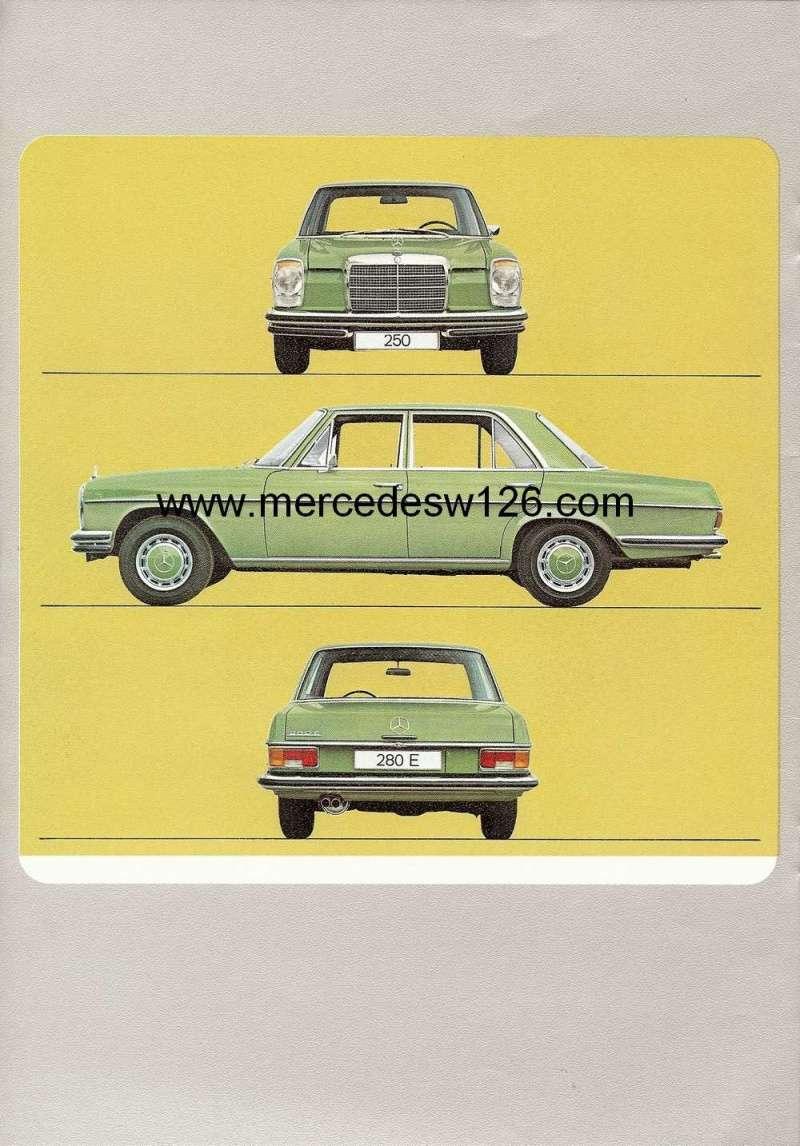 Catalogue de 1972 sur les Mercedes W114 250, 280 & 280 E W114_129