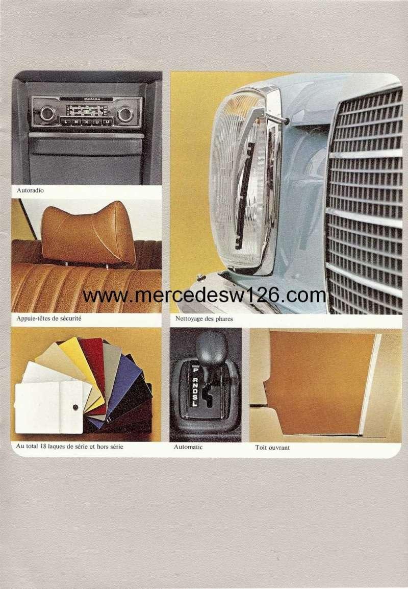 Catalogue de 1972 sur les Mercedes W114 250, 280 & 280 E W114_131