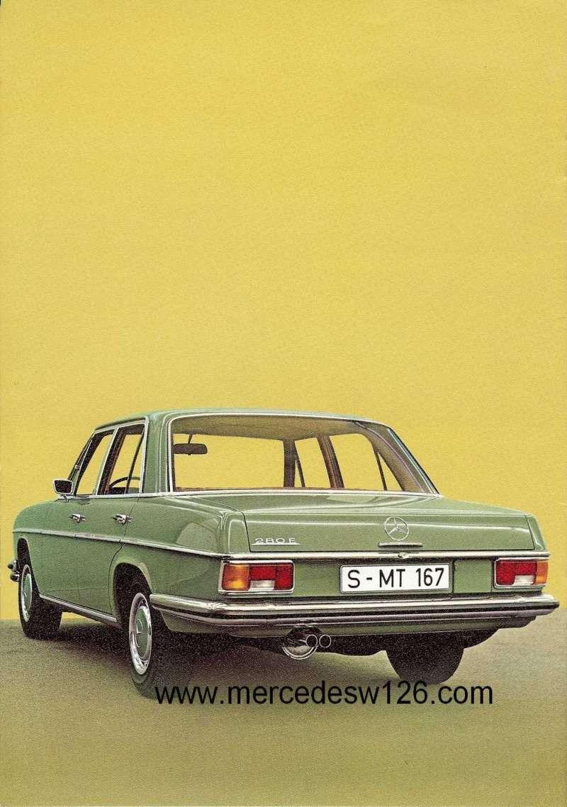 Catalogue de 1972 sur les Mercedes W114 250, 280 & 280 E W114_132