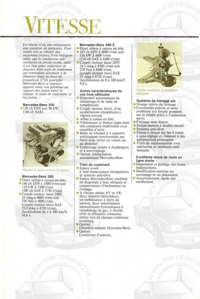Catalogue de 1972 sur les Mercedes W114 250, 280 & 280 E W114_134