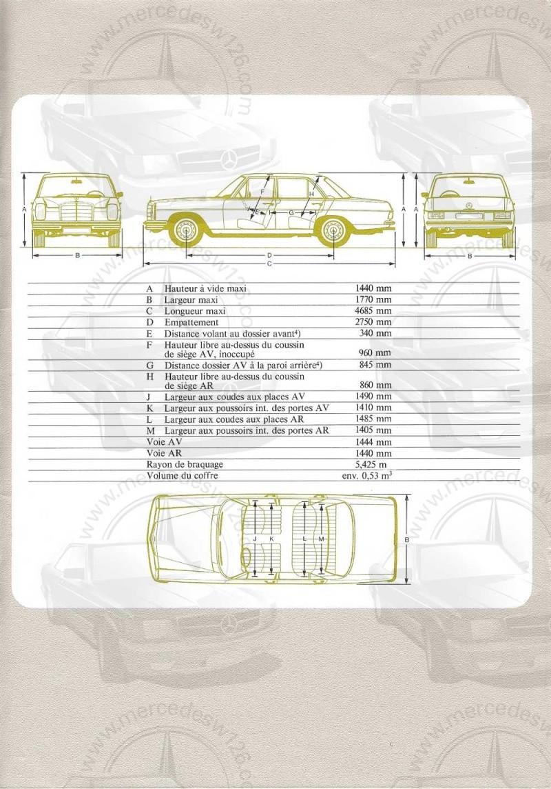 Catalogue de 1972 sur les Mercedes W114 250, 280 & 280 E W114_137