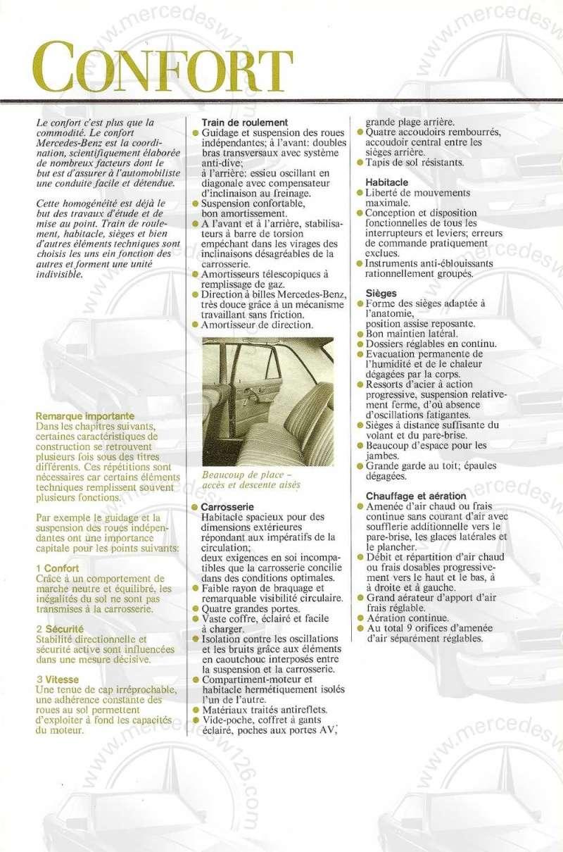 Catalogue de 1972 sur les Mercedes W114 250, 280 & 280 E W114_138