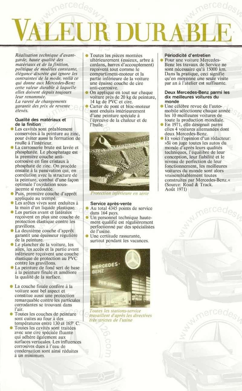 Catalogue de 1972 sur les Mercedes W114 250, 280 & 280 E W114_139