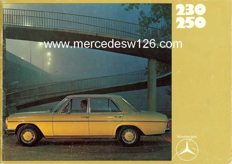 Catalogue de 1969 sur les W114 230 & 250 W114_221