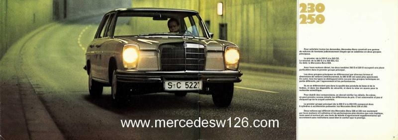 Catalogue de 1969 sur les W114 230 & 250 W114_227