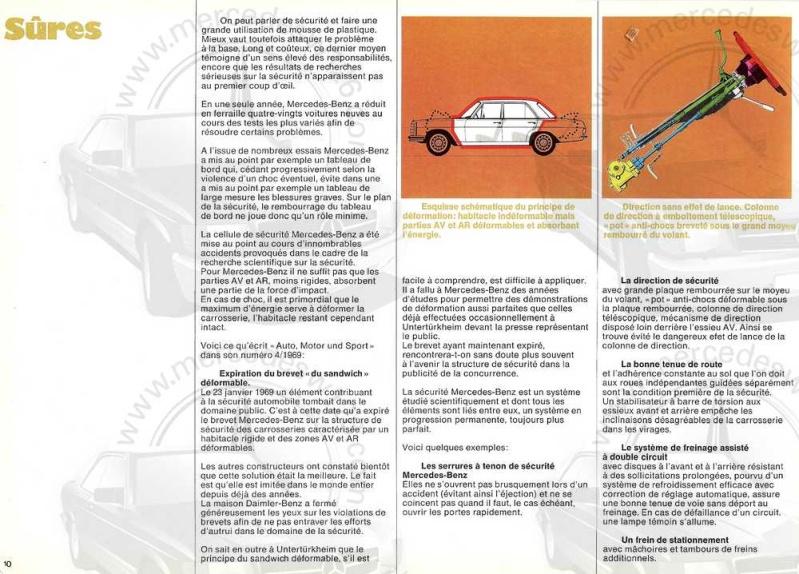 Catalogue de 1969 sur les W114 230 & 250 W114_228