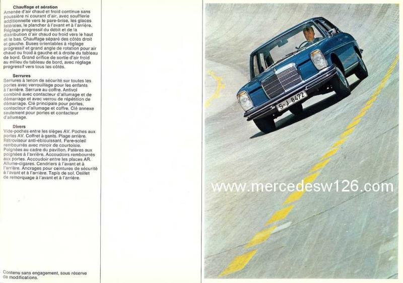 Catalogue de 1969 sur les W114 230 & 250 W114_237