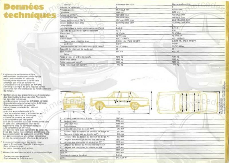 Catalogue de 1969 sur les W114 230 & 250 W114_241