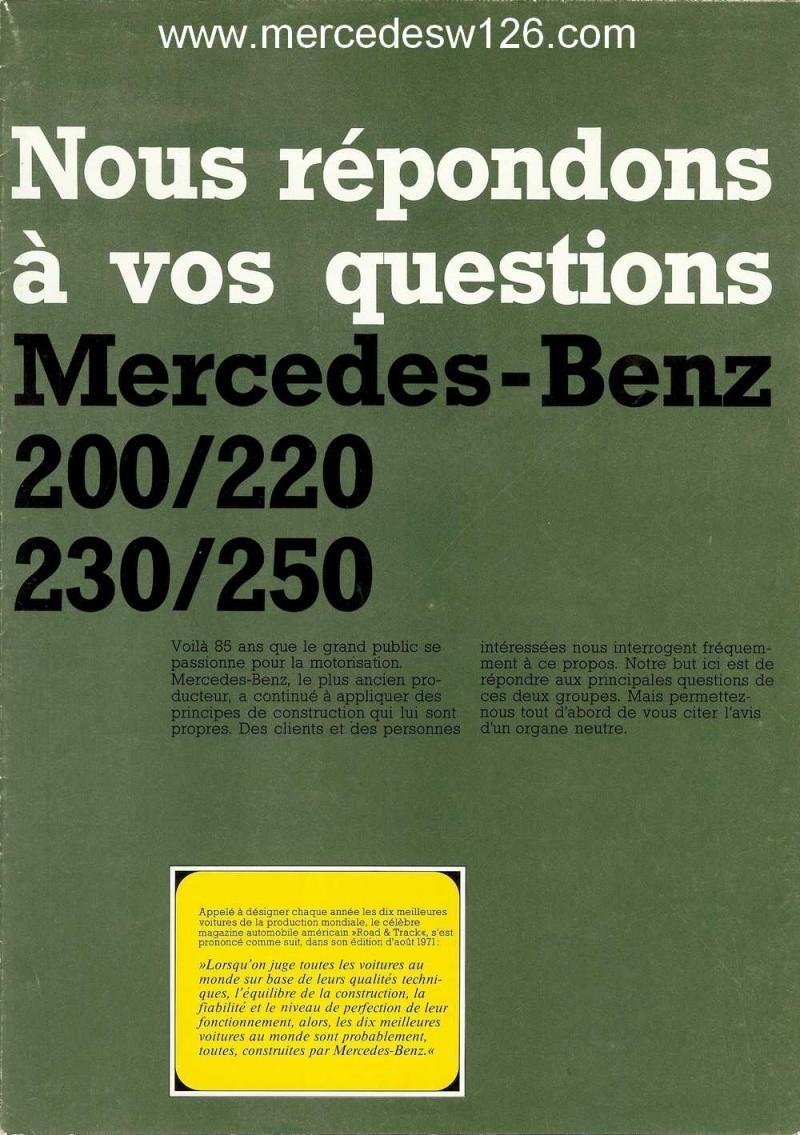 """W114 en 1971: """"Nous répondons à vos questions"""" W114_b10"""
