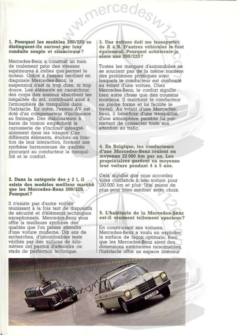 """W114 en 1971: """"Nous répondons à vos questions"""" W114_b14"""