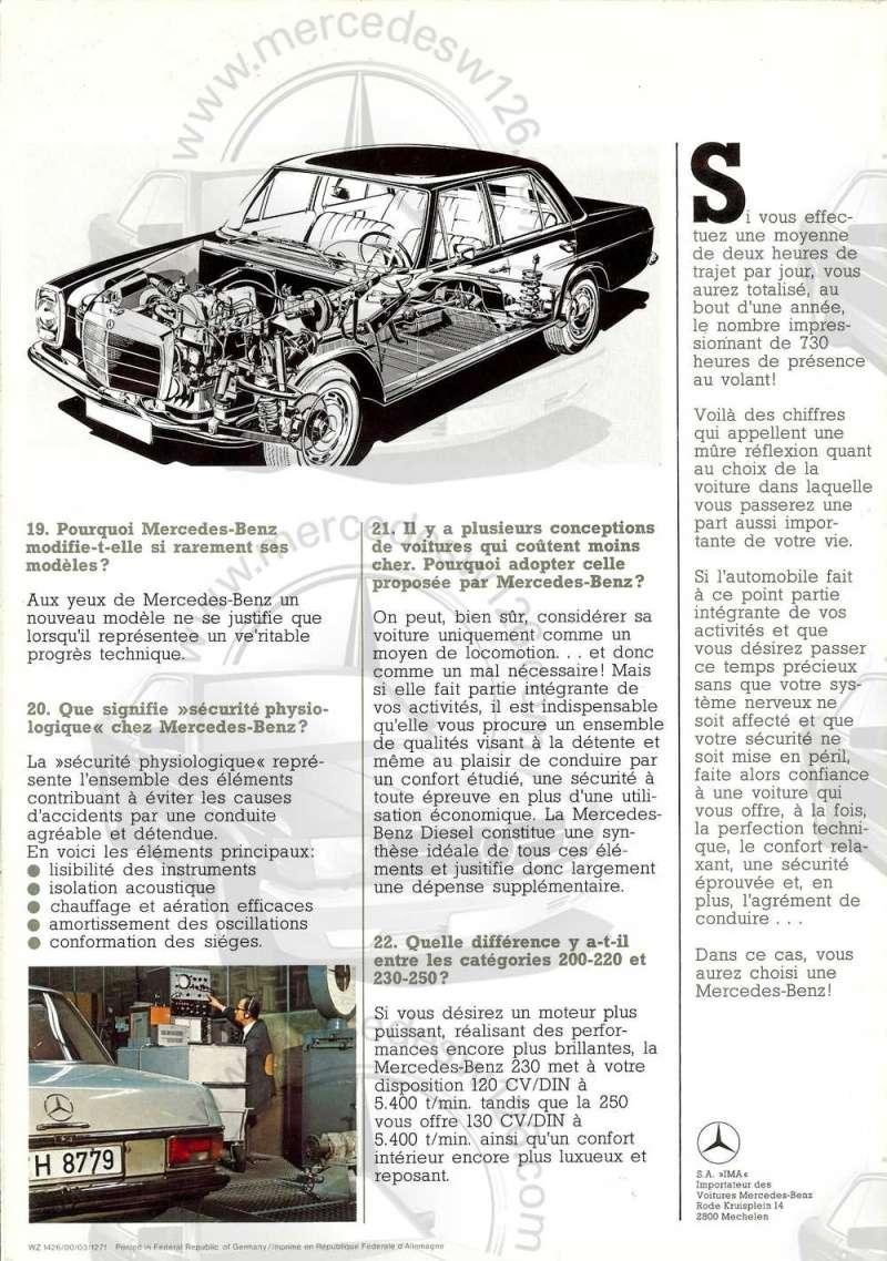 """W114 en 1971: """"Nous répondons à vos questions"""" W114_b15"""