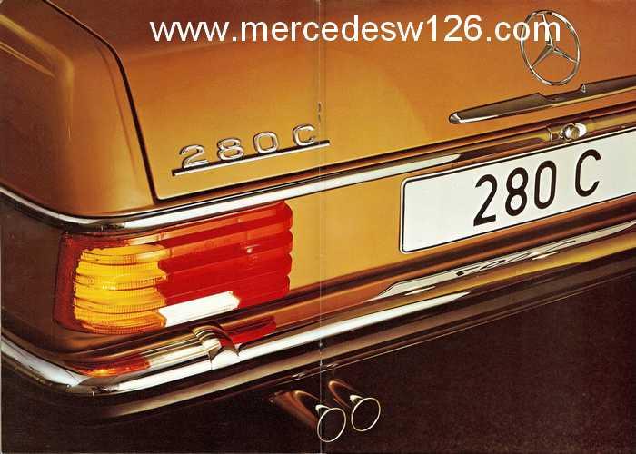 Catalogue de 1974 sur les W114 250 C, 280 C et 280 CE W114_c16