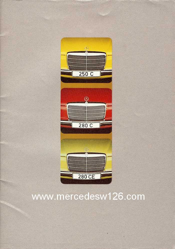Catalogue de 1974 sur les W114 250 C, 280 C et 280 CE W114_c17
