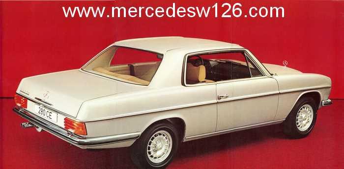 Catalogue de 1974 sur les W114 250 C, 280 C et 280 CE W114_c21