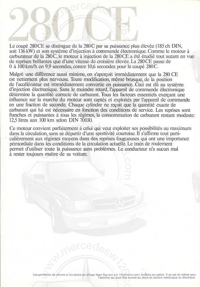 Catalogue de 1974 sur les W114 250 C, 280 C et 280 CE W114_c22