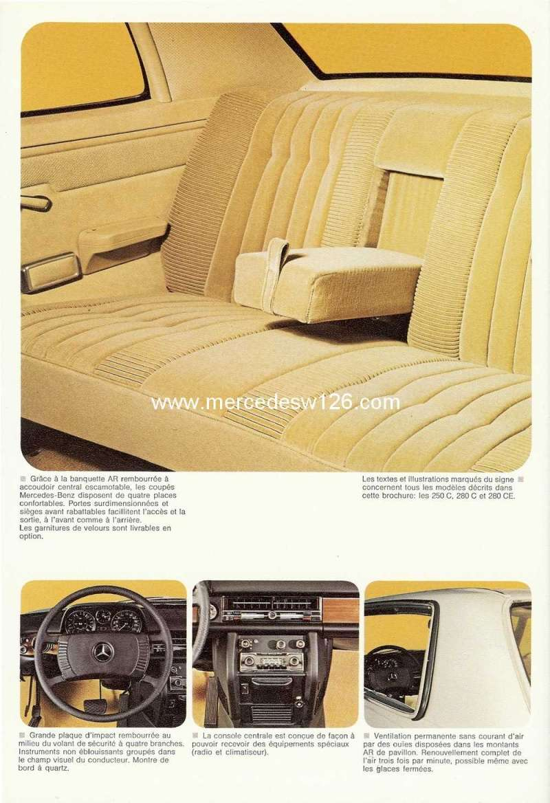Catalogue de 1974 sur les W114 250 C, 280 C et 280 CE W114_c24