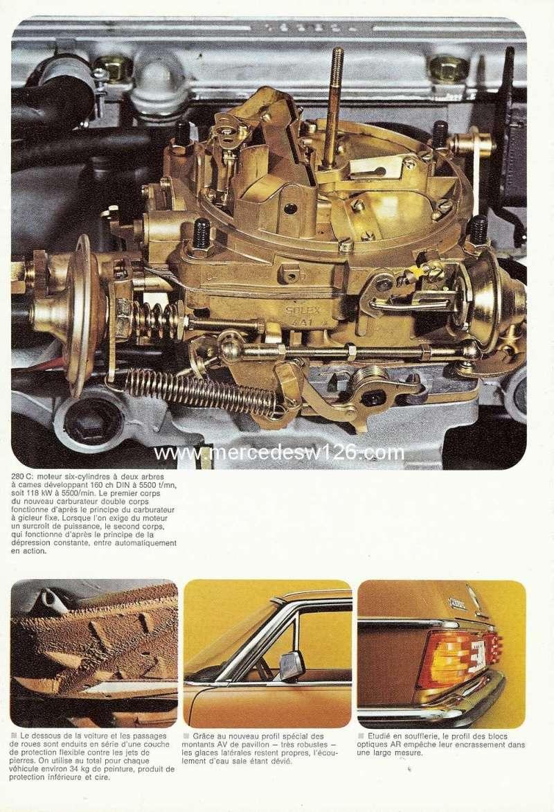 Catalogue de 1974 sur les W114 250 C, 280 C et 280 CE W114_c25