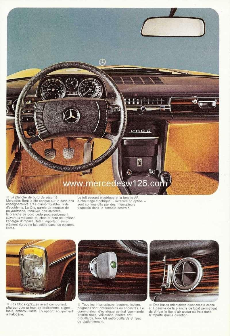 Catalogue de 1974 sur les W114 250 C, 280 C et 280 CE W114_c27