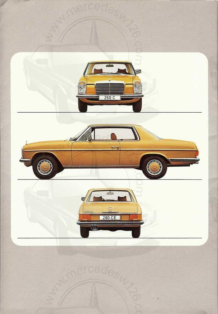 Catalogue de 1974 sur les W114 250 C, 280 C et 280 CE W114_c35