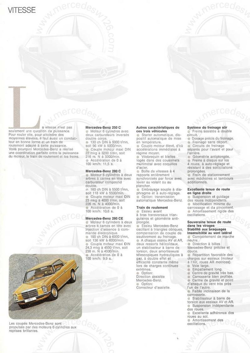 Catalogue de 1974 sur les W114 250 C, 280 C et 280 CE W114_c39