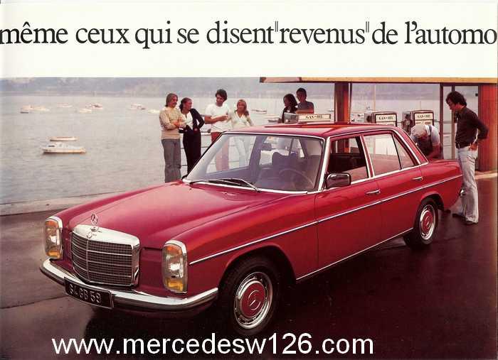 Dépliant de 1973 sur la gamme Diesel W114_d13