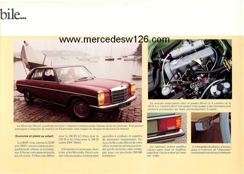 Dépliant de 1973 sur la gamme Diesel W114_d14