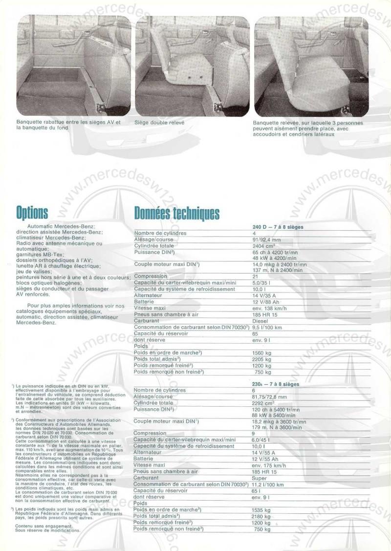Catalogue de 1973 sur les Mercedes W114 et W115 limousines W114_l10