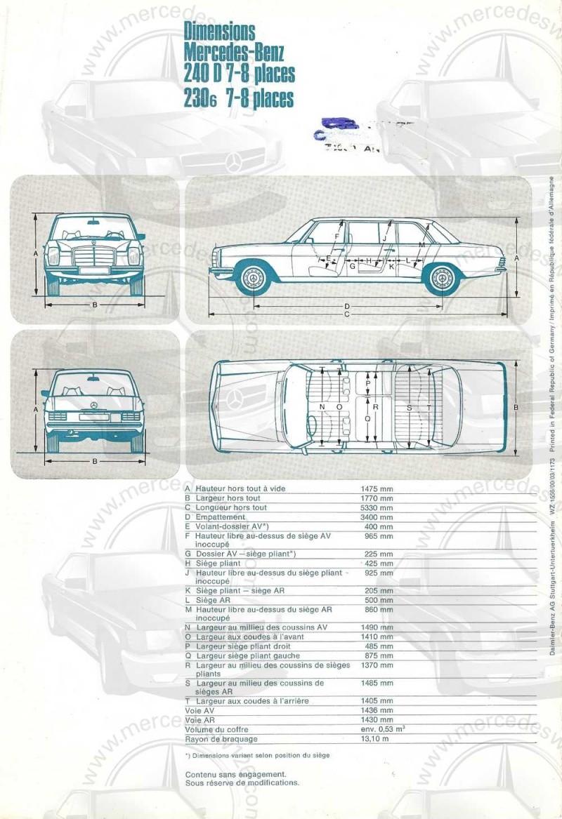 Catalogue de 1973 sur les Mercedes W114 et W115 limousines W114_l11
