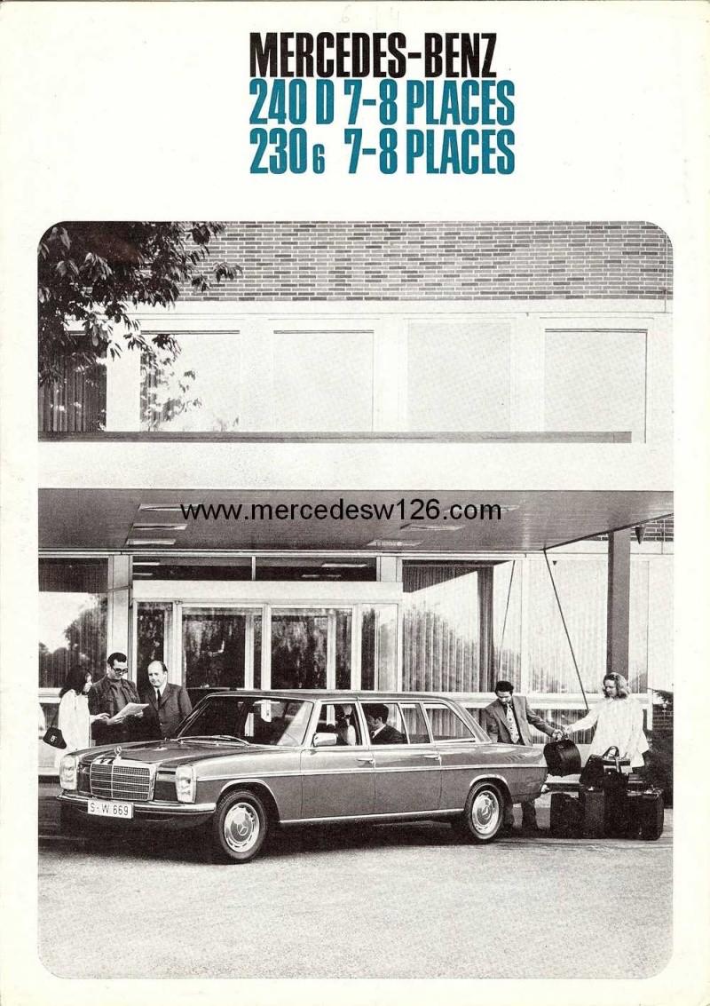 Catalogue de 1973 sur les Mercedes W114 et W115 limousines W114_l13