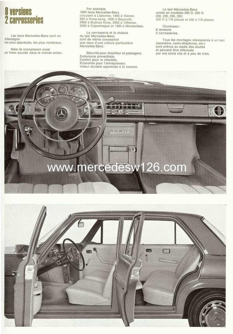 """Catalogue de 1968 sur la gamme Mercedes W114 & W115 """"Taxi"""" W114_t12"""