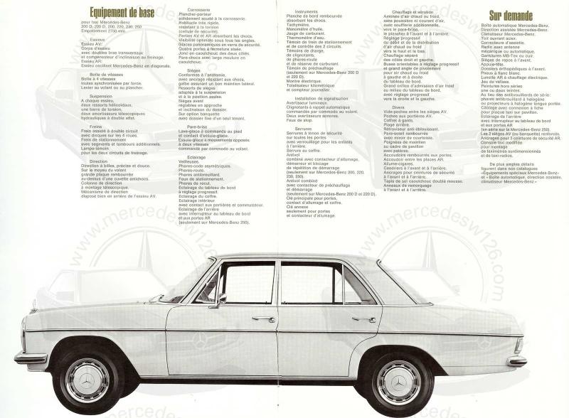 """Catalogue de 1968 sur la gamme Mercedes W114 & W115 """"Taxi"""" W114_t13"""