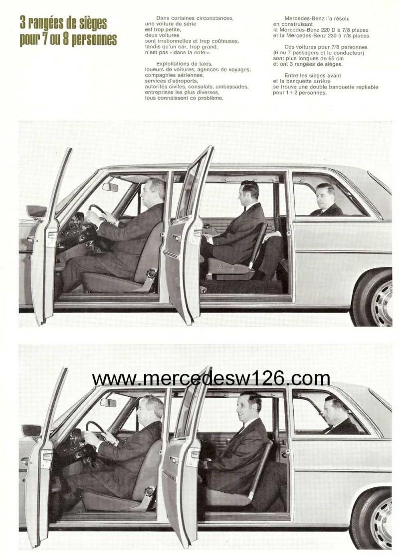 """Catalogue de 1968 sur la gamme Mercedes W114 & W115 """"Taxi"""" W114_t14"""