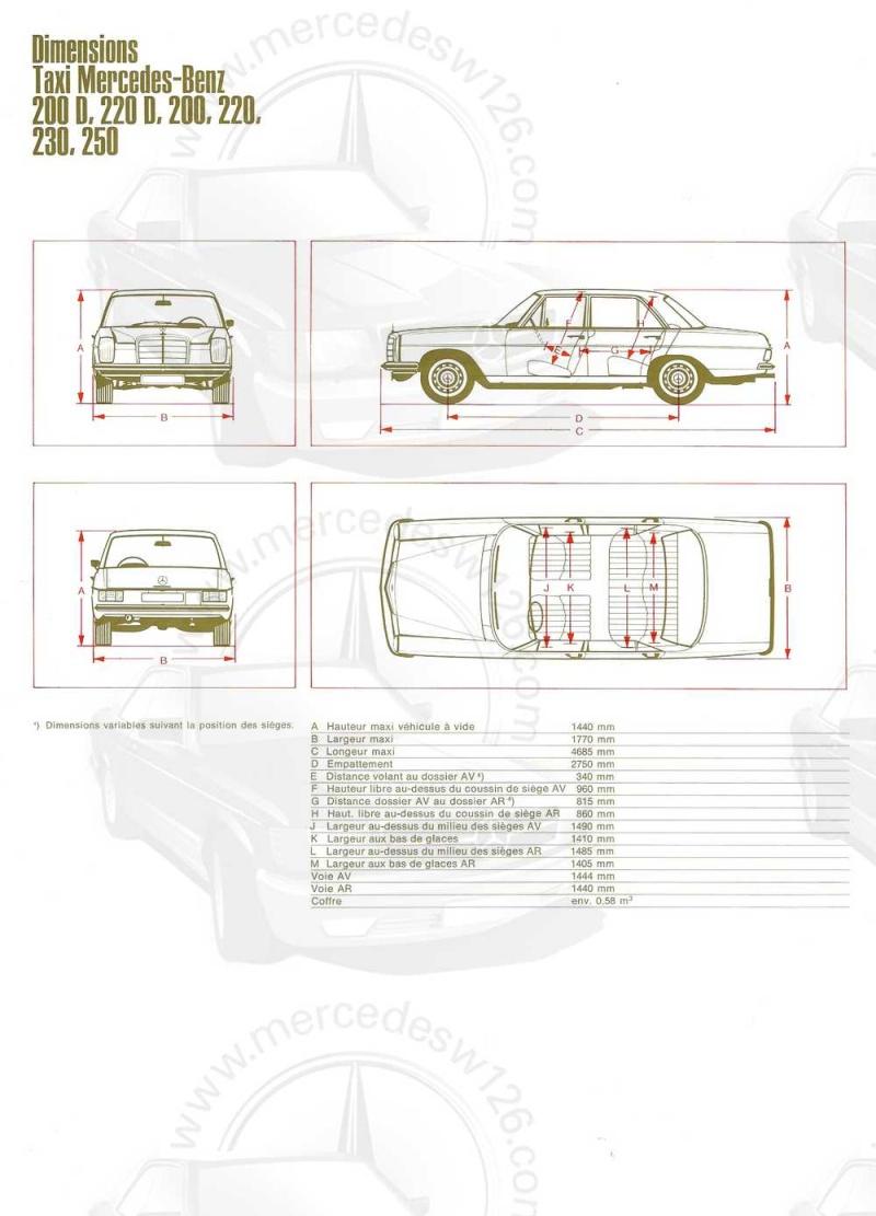 """Catalogue de 1968 sur la gamme Mercedes W114 & W115 """"Taxi"""" W114_t15"""