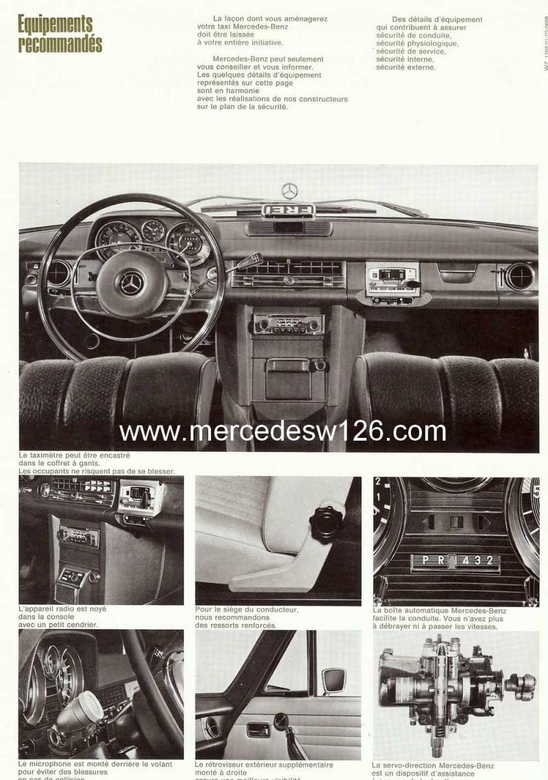 """Catalogue de 1968 sur la gamme Mercedes W114 & W115 """"Taxi"""" W114_t16"""