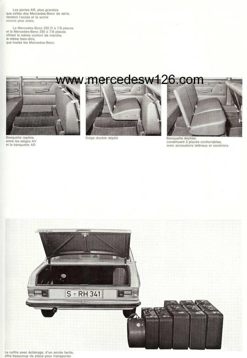"""Catalogue de 1968 sur la gamme Mercedes W114 & W115 """"Taxi"""" W114_t17"""