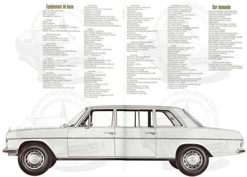 """Catalogue de 1968 sur la gamme Mercedes W114 & W115 """"Taxi"""" W114_t18"""