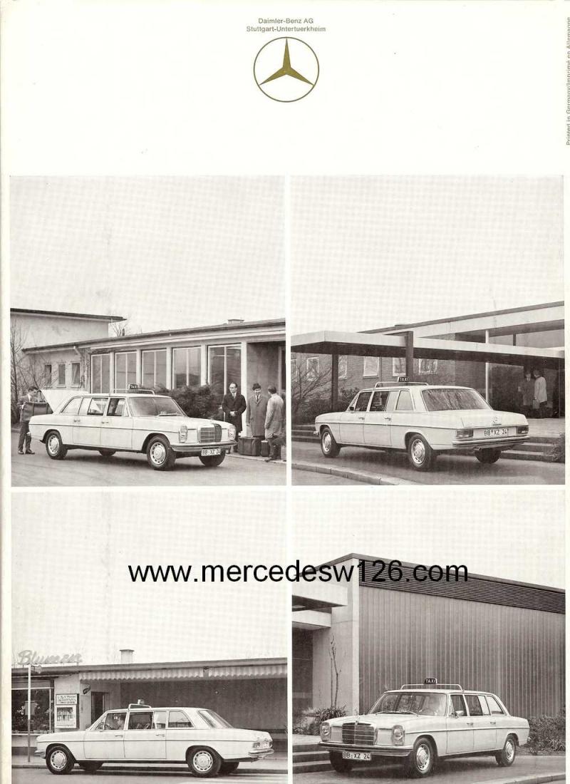 """Catalogue de 1968 sur la gamme Mercedes W114 & W115 """"Taxi"""" W114_t22"""