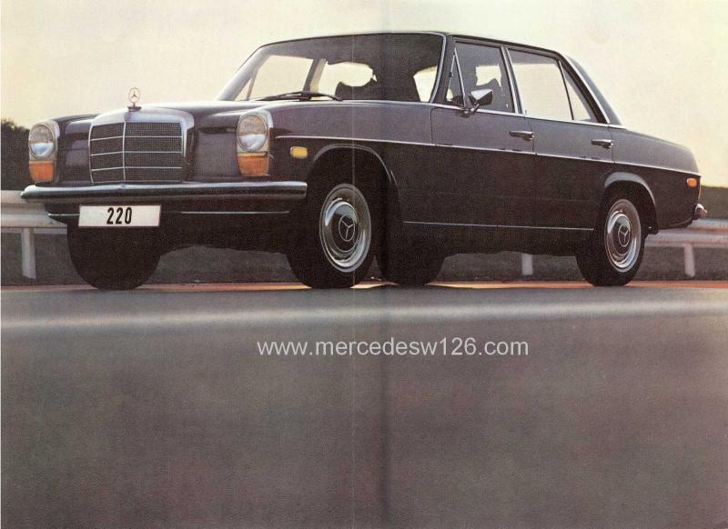 Catalogue de 1971 sur les Mercedes W114 & W115 version US W114_u13