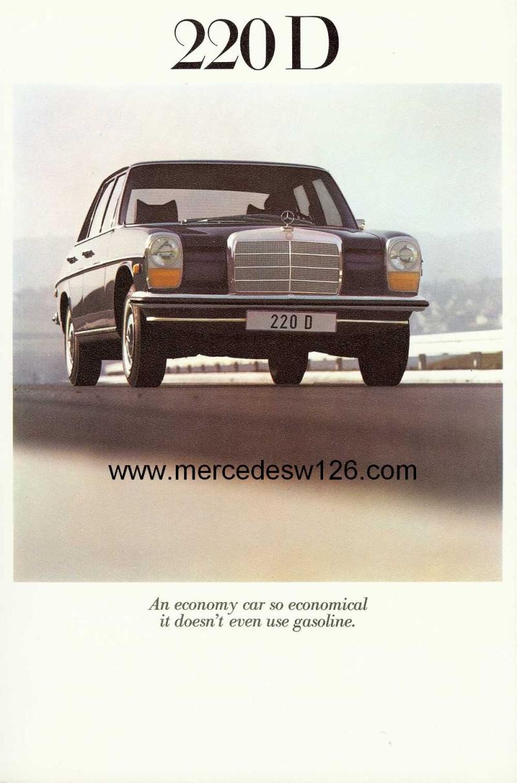 Catalogue de 1971 sur les Mercedes W114 & W115 version US W114_u14